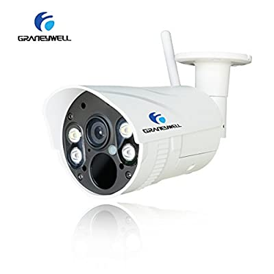 GRANEYWELL IP Camera,1080P Wifi Wireless Security Camera Wtih Two-Way Audio,Full Color Night Vision Bullet Camera With Motion Detection,Waterproof Outdoor/indoor Home camera by graneywell