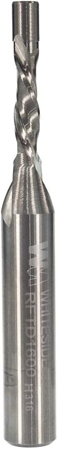Whiteside Router Bits RFTD1600 1/8-Inch Cutting Diameter and Spiral Flush Trim Bit with Down Cut