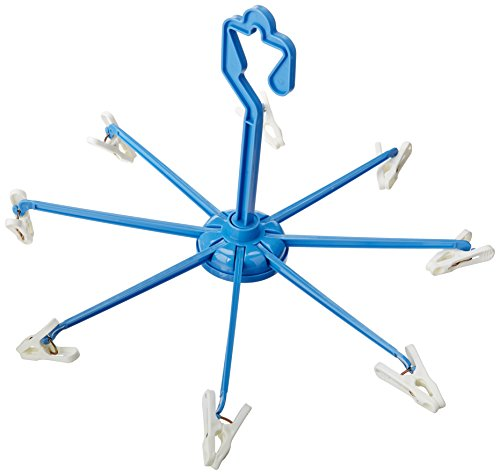 Whitmor Clip & Drip Hangers With 8 Clips Blue / White