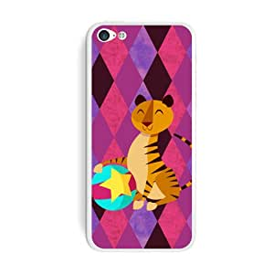 Graphics and More Big Top Circus Tiger Protective Skin Sticker Case for Apple iPhone 5C - Set of 2 - Non-Retail Packaging - Opaque