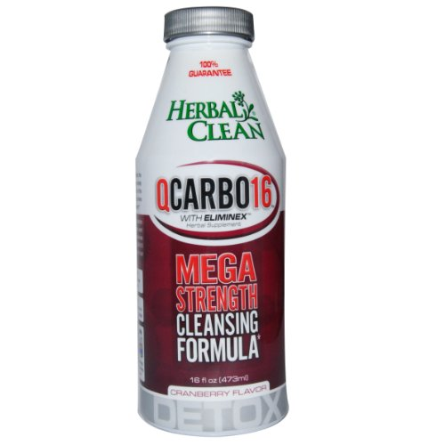 (Herbal Clean Qcarbo 16 Strength Cleansing Formula Cranberry - 16 Fl. Oz. Bottle)