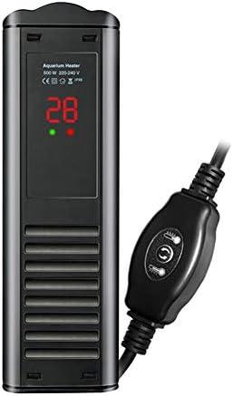 水中アクアリウムヒーター、水槽ヒーター、LEDデジタル温度表示および外部温度コントローラー付き、水槽のカメに適合