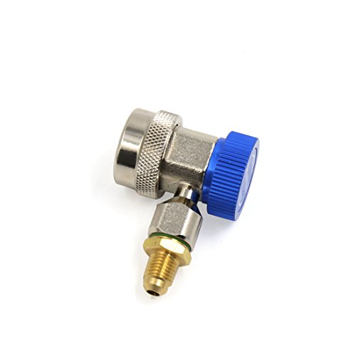 uxcell Blue Low Side Adjustable Air Conditioner Quick Coupler Connector Adapter for Car by uxcell (Image #3)'