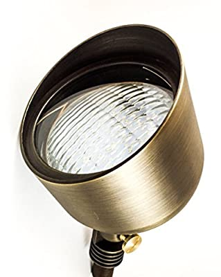 LED Flood Light PAR 36 by MIK Solutions BEST SELLER Solid Brass Metal Wall Light Landscape Light Security Lighting for Beautiful Bright Long Lasting Home Garden Patio Deck Driveway Area Lighting