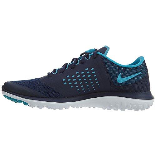Nike Mens Fs Lite 2 Scarpe Da Corsa Blu Binario / Blu Cloro / Bianco