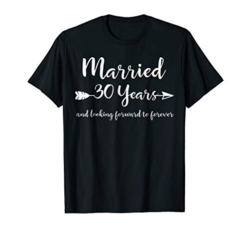 30th Wedding Anniversary Gift T-Shirt for Him Her Couples (30 Year Wedding Anniversary Gift Ideas For Wife)