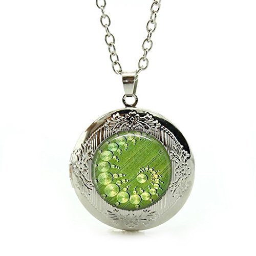 - LEO BON Silver Pendant Crop Circle Aliens, Ufo'S, Geometric JewelryCustom Design Alloy Chain Necklace
