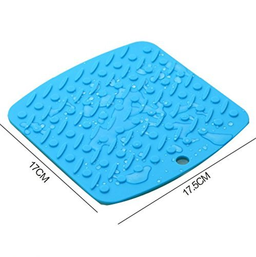 ZHAS the green table mat/Stainless steel silicone hot pad/mat/pot mat-A 17.5x17.5cm(7x7inch)