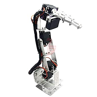 Mechanical Robotic Arm ROT3U 6DOF Clamp Claw Aluminium Robot Silver For Arduino