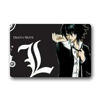 """Custom Machine-washable Door Mat Japanese Anime Death Note Indoor/Outdoor Doormat 23.6""""(L) x 15.7""""(W)"""