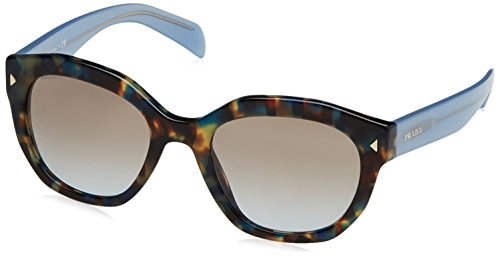 Prada UE14S2 Mixed / Blue / Brown 12S Cats Eyes Sunglasses Lens Category 2 - Sunglasses Blue Prada