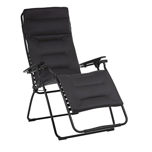 Nice Lafuma LFM3123-6135 Futura XL Air Comfort Zero Gravity Recliner-Black Frame, Acier Fabric