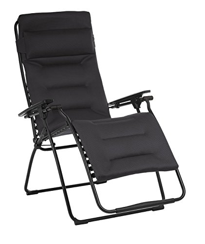 Cheap Lafuma LFM3123-6135 Futura XL Air Comfort Zero Gravity Recliner-Black Frame, Acier Fabric