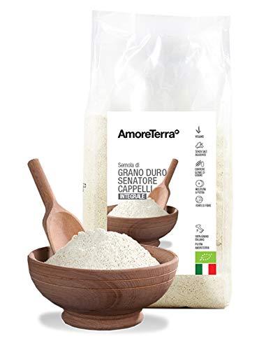 Semola Senatore Cappelli integrale BIO 500g  Amazon.it  Alimentari e ... a282d97dfcdb