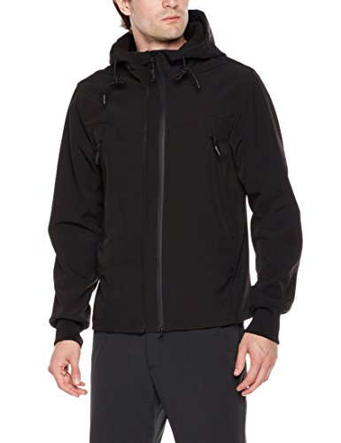 Royal Matrix Men's Softshell Jacket Fleece Lined Jacket Water Resistant Outwear Black ()