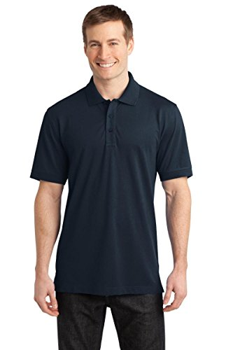 Port Authority Men's Port Authority Stretch Pique Polo. XL Dress Blue Navy
