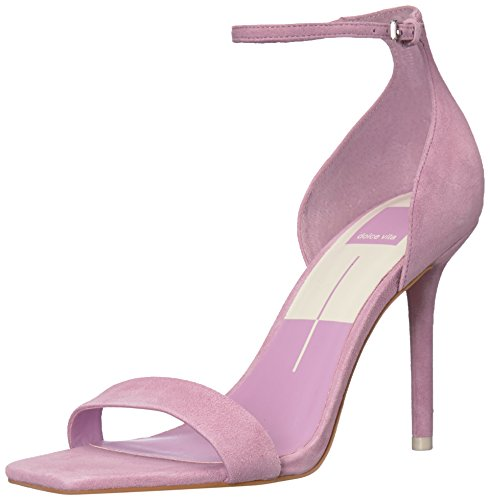 Dolce Vita Women's Halo Heeled Sandal, Orchid Suede, 8.5 M US