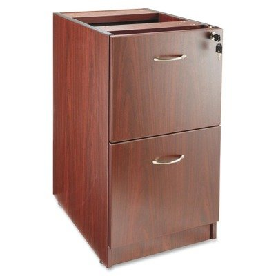 Lorell LLR69605 69000 Series Free Standing Fixed Pedestals, Mahogany - Free Standing Pedestal File