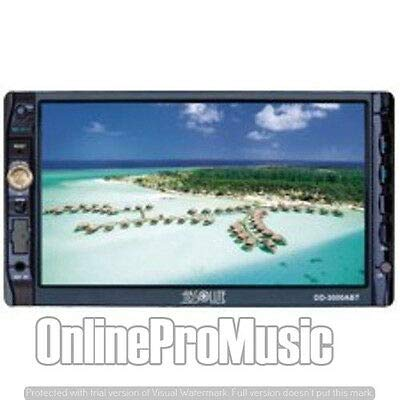 Absolute DD-3000ABT 7-Inch Double Din Multimedia DVD Player Receiver with Touch Screen System Display and Detachable Front Panel Built-in Bluetooth