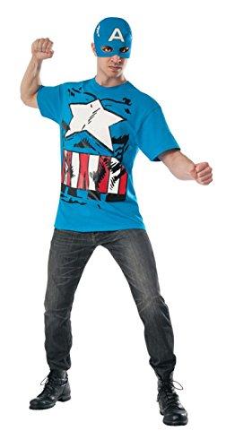 Rubie's Men's Marvel Universe Classic Captain America T-Shirt/Mask, Multi, X-Large