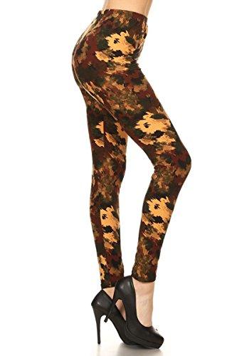 R832-PLUS Rustic Romance Print Fashion Leggings