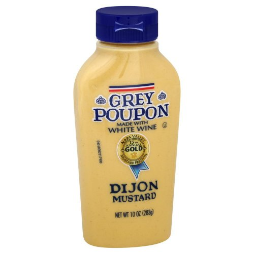 Grey Poupon, Dijon Mustard, 10oz Squeeze Bottle (Pack of 2) -