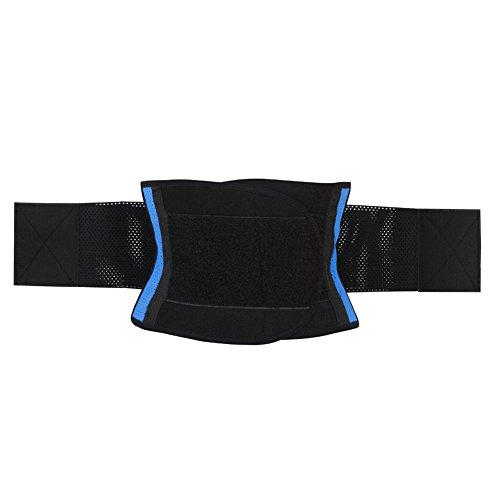 Grebrafan Latex Rubber Belt Waist Trainer Cincher Underbust Corset Body Shaper Shapewear Azul