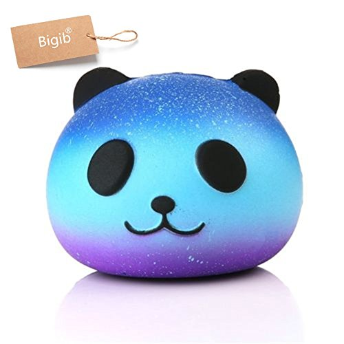 Jumbo Slow Rising Squishies Charms Kawaii Squishies Cream Scented Toys For Kids and Adults (Star Panda)