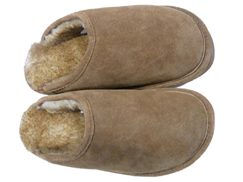 9 76 Sheepskin Brown Australian Chocolate Mens Scuffs WoolWorks Slippers Odtnw8q5OH