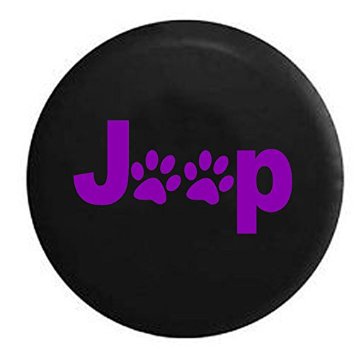 Purple - Jeep Paw Prints Animal Lover - Jeep Wrangler Camper spare Tire Cover Black 31 in spare Tire Cover Black 31 in
