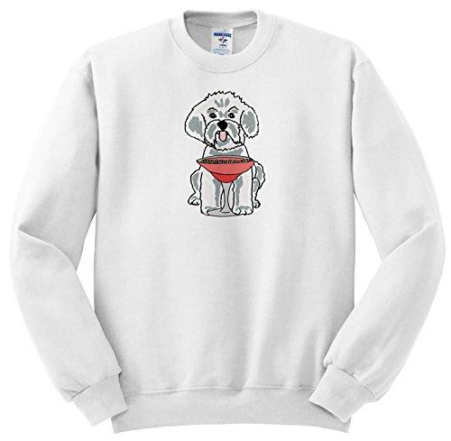 - Funny Cute Maltese Puppy Dog Drinking Margarita - Sweatshirts - Youth Sweatshirt Large(14-16) (SS_260946_12) (Maltese Youth Sweatshirt)