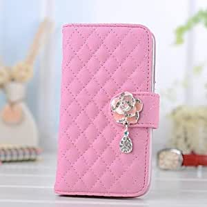 Mini - Multi-fonction Camellia Pendant PU Leather Full Body Case with Stand for iPhone 5/5S , Color: White