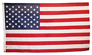 America's Flag Company US3X5P2US1 3-Foot by 5-Foot Commercial Polyester United States Flag