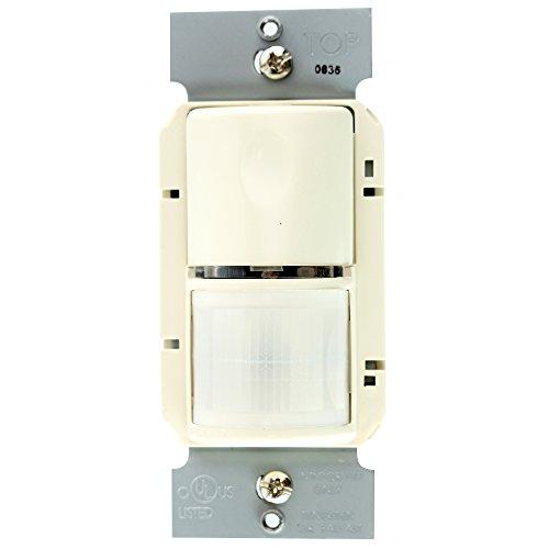 Occupancy Sensor Mount Wall (Pass & Seymour WSP200-LA PIR Wall Mount Occupancy Sensor, 120/277V, Light Almond)