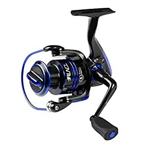 RUNCL Spinning Reel KEENⅡ3000, Fishing Reel with Left/Right Interchangeable Collapsible Handle 5.2:1 Gear Ratio 6+1 Ball Bearings for Freshwater Saltwater Boat Fishing(Blue)