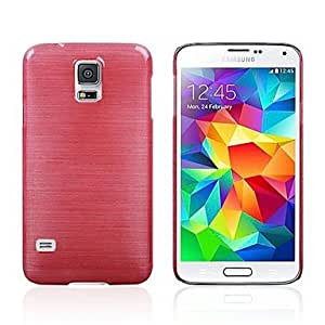 Fashion Wire Drawing Hard Case Shell for Samsung S5 I9600 (Assorted Colors),Red