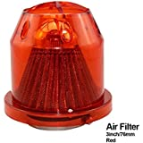 "HIGHER MEN Universal Air Filter Turbo Kit 76mm 3"" Intake (Color : RED)"