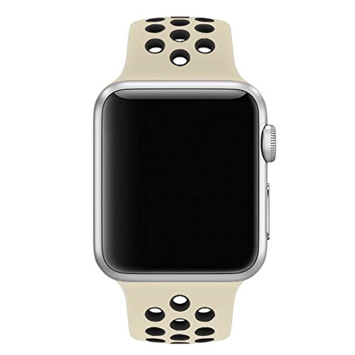 iOME Soft Silicone Bracelet Band Wristband with Quick Release Replacement Band for Apple Watch 38mm / 42mm Series 3/2/1 Sport Edition