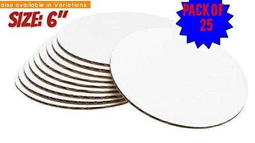 Decorated Lace - 6-Inch Cake Circle, (25-Pack) cake circles 6 inch ,cake circle base
