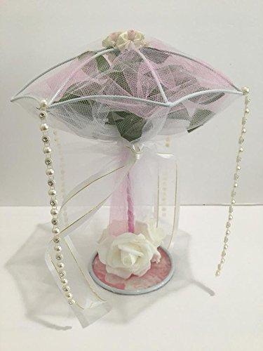 metal umbrella centerpiece parasol decoration for sweet 16 bridal shower wedding