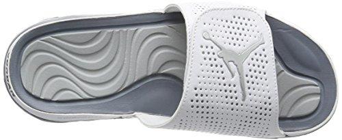 NIKE Mens Jordan Hydro 5 Sandal White/Metallic Silver-cool Grey twLm8VYC