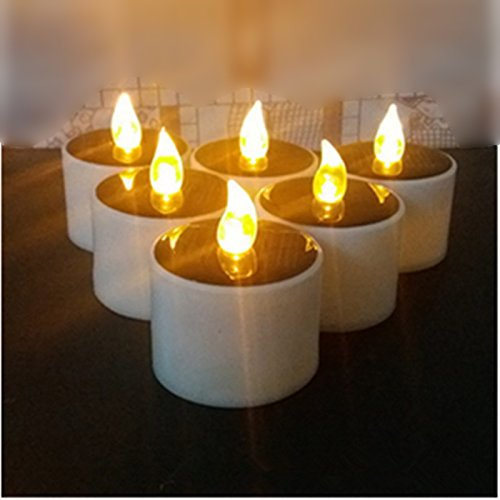 Operated Booster Pump - 6pcs/lot LED Tea Light Candles Flashing Battery Operated Flickering Light Flameless Wedding Event Decor Warm Solar Light