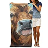 Super Absorbent Beach Towel Countryside Cattle Painting Polyester Velvet Beach Towels 31.551.2 Inch
