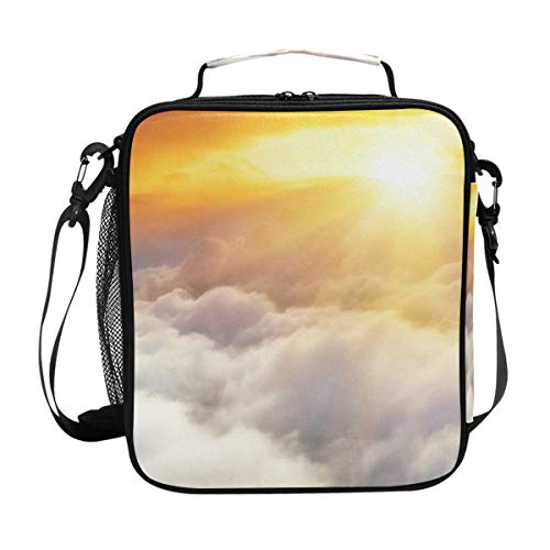 Beach And Sunset View Insulated Lunch Bag Box Cooler Bag Reusable Tote Bag Outdoor Travel Picnic Bags (Table Aria Kitchen)