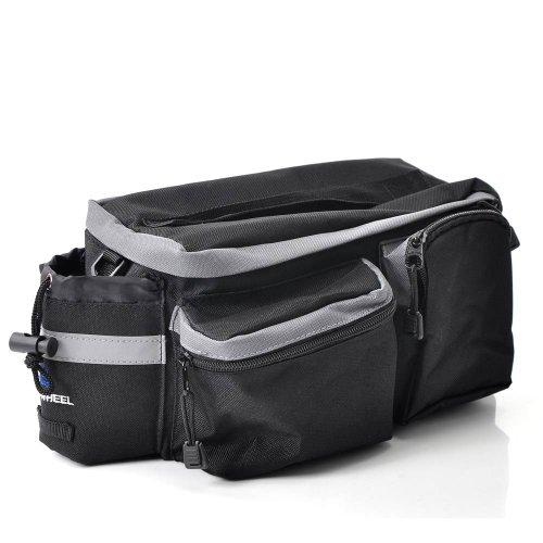 Housweety Rosweel Neue schwarz Fahrradtasche Handliche, praktische Gepäckträgertasche