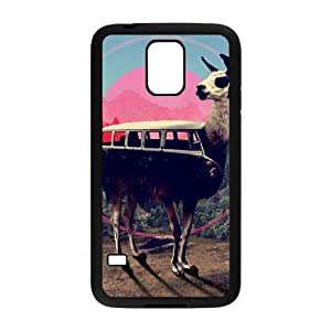 Samsung Galaxy S5 Cell Phone Case Black Llama VA2453428