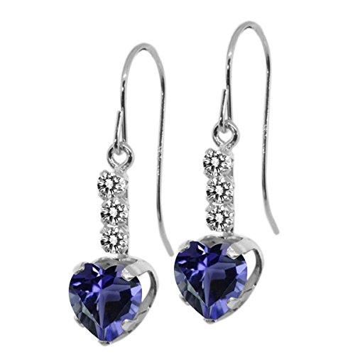 Diamond 925 Sterling Silver Earrings - 2