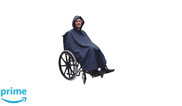 NRS Healthcare - Poncho con capucha para silla de ruedas (impermeable y ligero, talla L): Amazon.es: Salud y cuidado personal