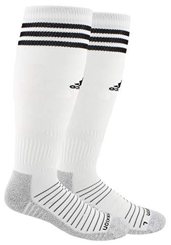 adidas Unisex Copa Zone Cushion IV Soccer Socks (1-Pair), White/Black, 5-8.5