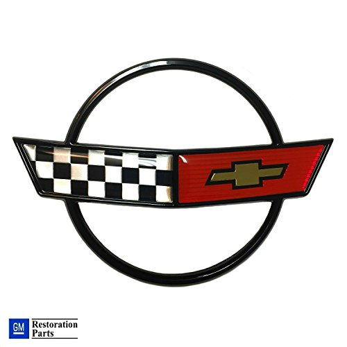 se Hood Emblem Cross Flag Official GM Restoration Part Fits: 84 through 90 Corvettes ()